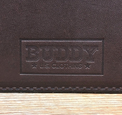 BUDDY オリジナル small coin purse wallet 栃木レザー 本革 小銭入れ BROWN
