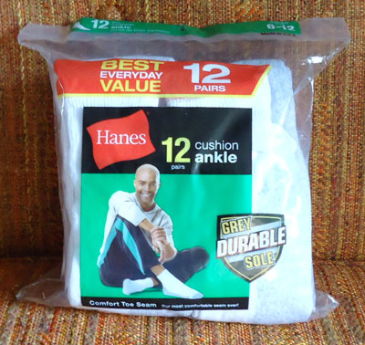 Hanes 12pairs cushion ankle