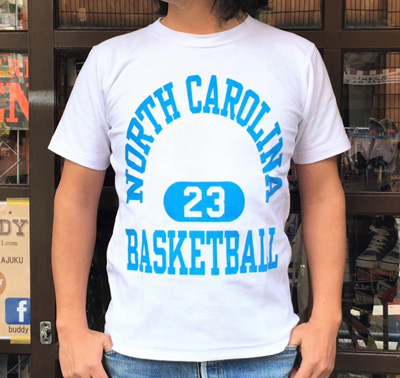 BUDDY 別注 Champion リバースウィーブTシャツ NORTH CAROLINA BASKETBALL 23