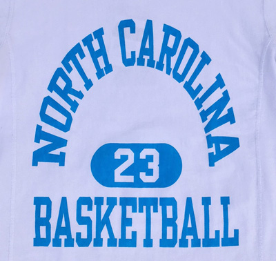 BUDDY別注 Champion リバースウィーブTシャツ NORTH CAROLINA BASKETBALL 23