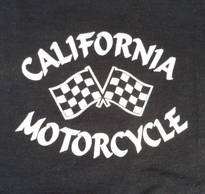 BUDDY×FRUIT OF THE LOOM CALIFORNIA MOTORCYCLE CHECKER FLAG Tシャツ