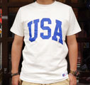 RUSSELL ATHLETIC PRO COTTON Tシャツ USA (ホワイト)